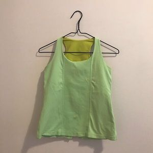 Lululemon Green/Yellow Tank Top